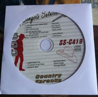 September 2012 Country Karaoke Singers Solution SS C419 Taylor Swift