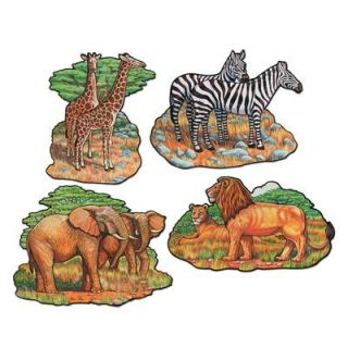 Jungle Safari Animals Theme Cutout Party Decorations