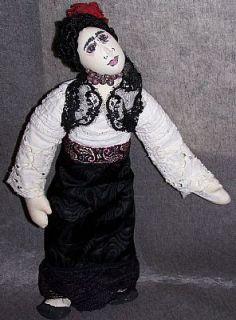Frida Kahlo Original ACEO EBSQ Frida Kahlo Art Doll Fabric