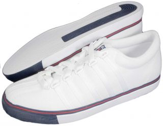 Swiss Classic LX Canvas Mens White Navy Shoes