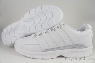 Swiss Makuno White Silver Gray Classic Casual Training Limited Mens