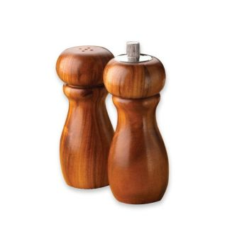 Kamenstein Acacia Pepper Grinder Salt Shaker Set