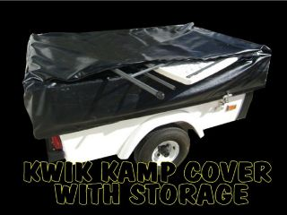 New Kwik Kamp Trailer Travel Cover with Storage Motorcycle camper
