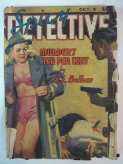 Spicy Detective October 1941 Pulp Magazine Murders Ten per Cent by R