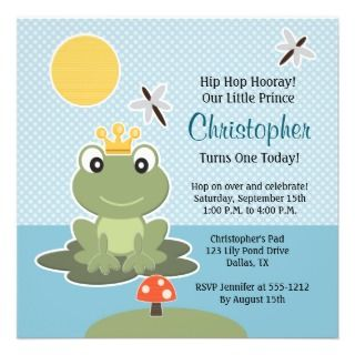 Custom Frog Birthday Invitation