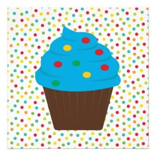 Chocolate Cupcake Birthday Party Invitation