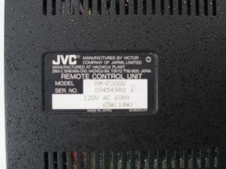 JVC RM P200 Camera Remote Control Unit Model RM P200U