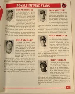 Wichita Wranglers Kansas City Royals 1998 Program Carlos Beltran
