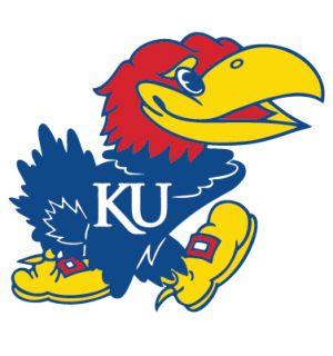 Kansas Jayhawks Mascot Logo Clear Vinyl Decal Car Truck Sticker KU