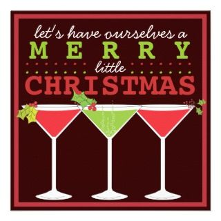 Merry Little Christmas Cocktail Party Invitation