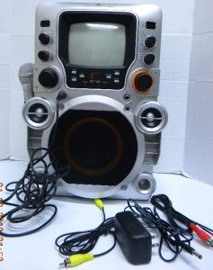 GPX JM250S Portable Home Karaoke Party Machine w Screen Mic CD G iPod