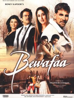 Movie Bewafaa DVD Starring Akshay Kumar, Kareena Kapoor, Anil Kapoor