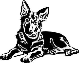 German Shepherd ALSATIAN Puppy Dog Car Van Sticker 3