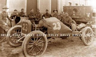 WWI US Army Gis and Their 23 Hot Rod Rat Rod Roadster Race Car Racing