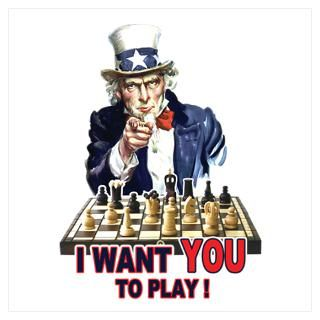Wall Art  Posters  Uncle Sam Plays Chess Poster