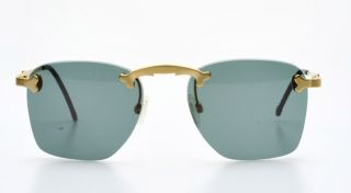 Matte Golden Rimless Design Sunglasses by Karl Lagerfeld M10K