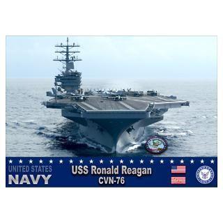 Wall Art  Posters  USS Ronald Reagan CVN 76 Poster