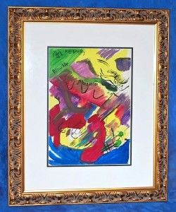 Fine Original Abstract Art Paper Wassily Kandinsky Russian Rare Signed