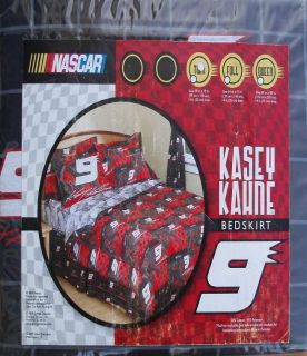 Kasey Kahne 9 Car Racing Black Twin Size Bed Skirt Bedding New