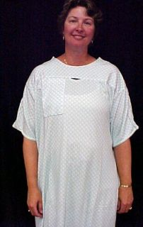 Karen Neuburger Patient Gown Hospital Snaps Unisex New