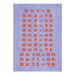 Times Table Collectible Card Personalized Announcements