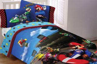 New Mario Kart Luigi Nintendo Twin Comforter Sheets Set
