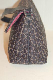Kate Spade Quilted Dot Noel Shoulder Flap Bag Black Pink Suede Lining