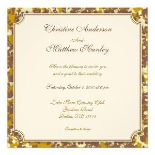 Four Seasons Wedding Invitation (fall)