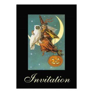 Invitation HAPPY OWLOWEEN Halloween Owl Witch