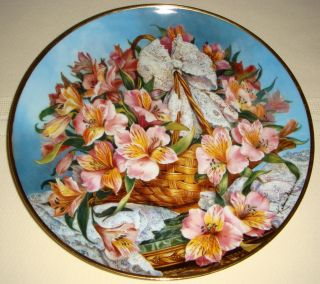 Katharine Austen Beautiful Flowers Bouquet Plate Gracia Alstroemeria