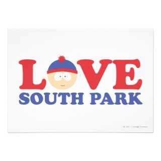 Stan   Love South Park Personalized Invitations