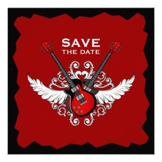 Rock n Roll Save the Date invitation