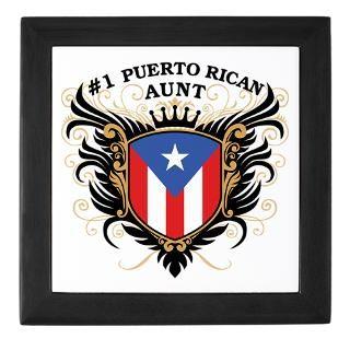 Number One Puerto Rican Aunt Keepsake Bo