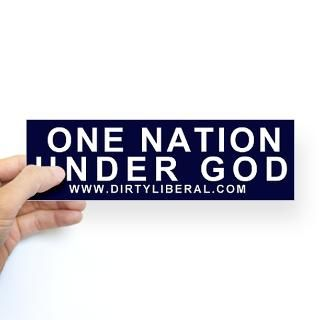 bumper sticker one nation under god sticker bumper $ 5 49 color white