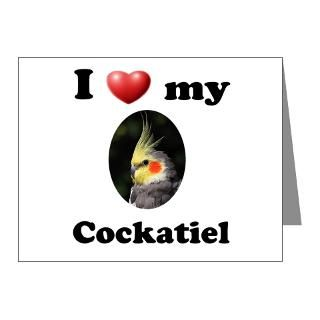 Bird Gifts  Bird Note Cards  Cockatiel Note Cards (Pk of 10)