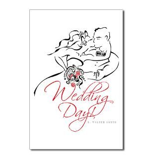Wedding Day Postcards (Package of 8)  The Wedding Day Store