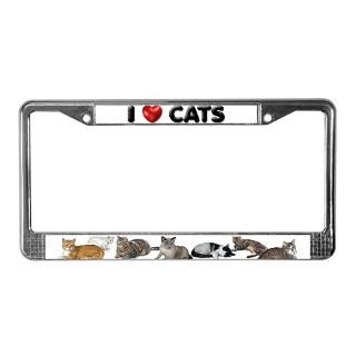 License Plate Frame I Love Cats for $15.00