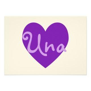 Una in Purple Personalized Invitations