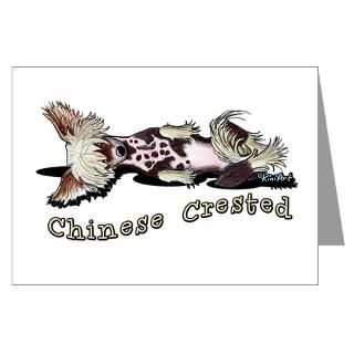flirty chinese crested greeting cards pk of 20