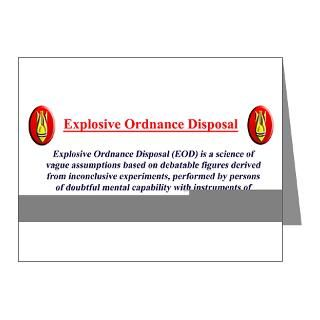 Air Force Note Cards  Definition of EOD Note Cards (Pk of 20