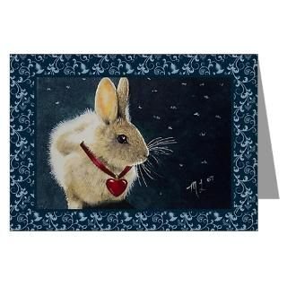 Artwork Greeting Cards  Valentine Rabbit Greeting Cards (Pk of 20
