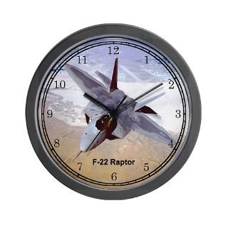 Air Force Gifts  Air Force Home Decor  F 22 Raptor Wall Clock