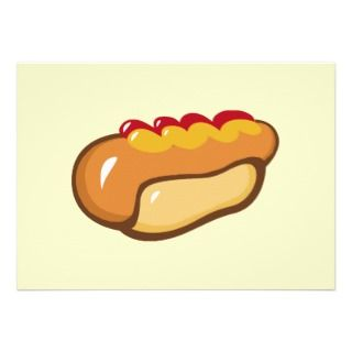 FAST FOOD HOT DOG CARTOON KETCHUP MUSTARD MEALS SN PERSONALIZED