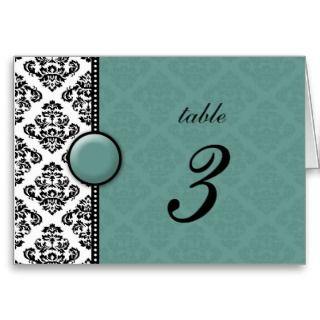 Número negro de la tabla del boda del adorno del v tarjetas de