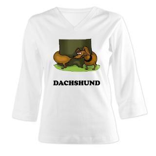 funny dachshund.tif 3/4 Sleeve T shirt