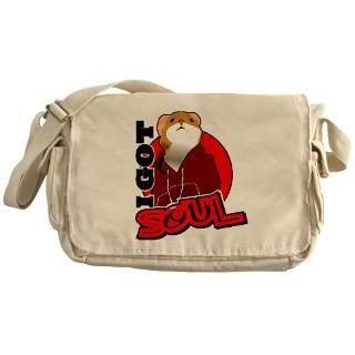 Hamster Got Soul t shirt Messenger Bag for $37.50