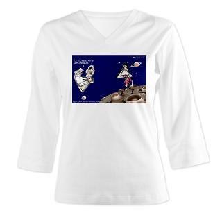 Michael Jackson Moonwalks On The Moon? Womens Long Sleeve Shirt (3/4