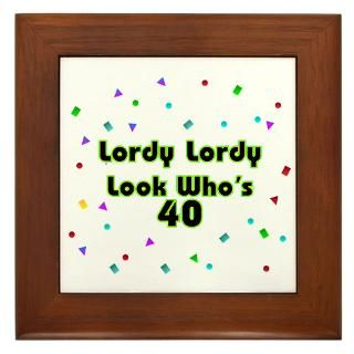 Look Whos 40 Framed Art Tiles  Buy Look Whos 40 Framed Tile