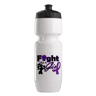 Fight Like A Girl Boxing Gloves Water Bottles  Custom Fight Like A