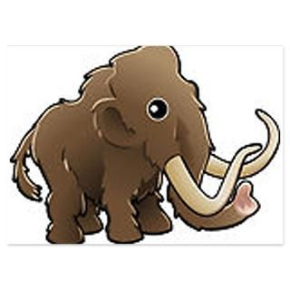 woolly mammoth 4 5 x 6 25 flat cards $ 1 45
